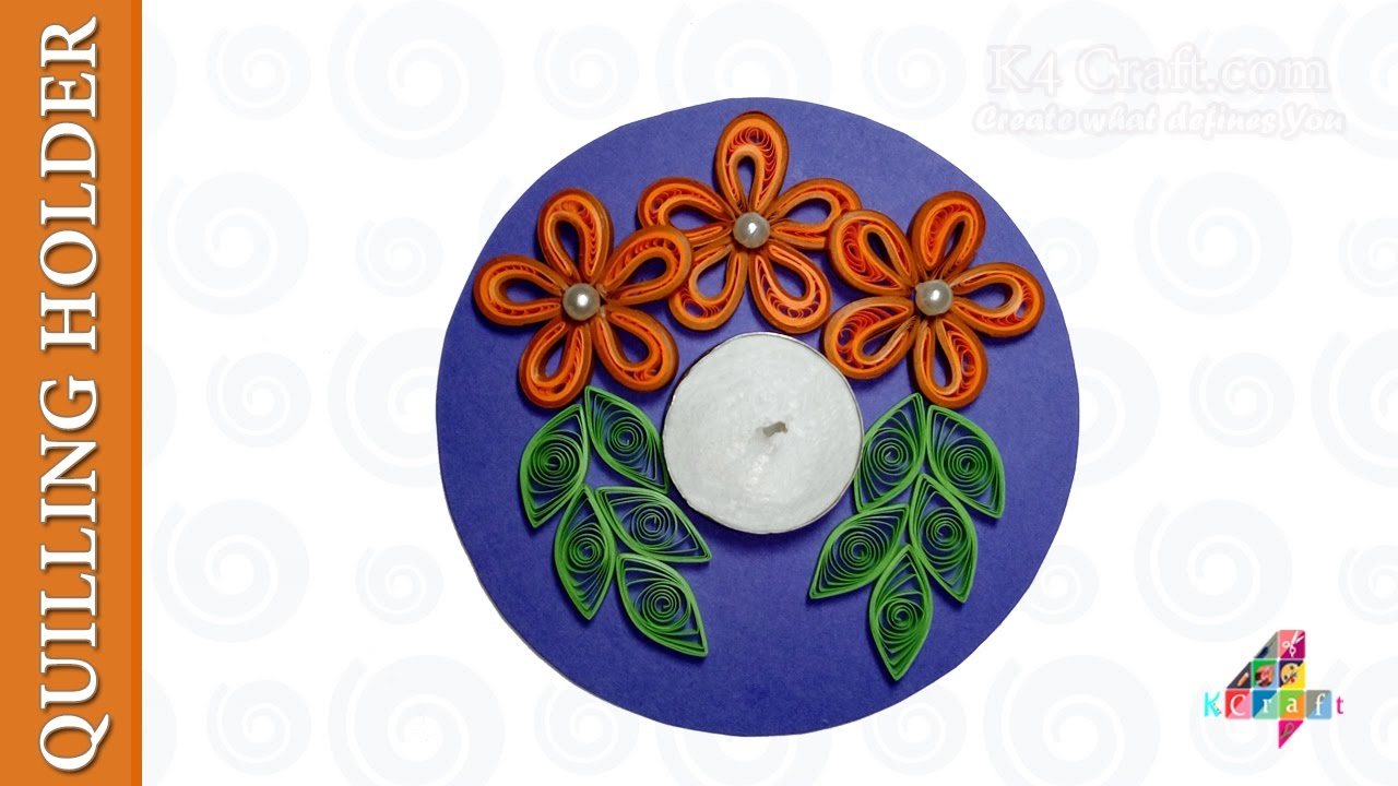 Handmade paper quilling floating Diya Quilling Candle and Diya Stand Decoration Ideas for Diwali