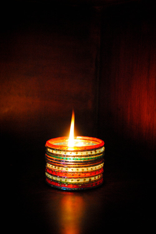 Diya Decoration with Simple Bangle Ideas To Make Your Diwali Special