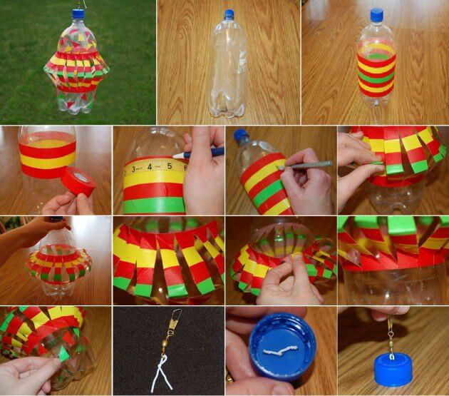Simple Plastic Bottles Decoration Idea How to make things from plastic bottles