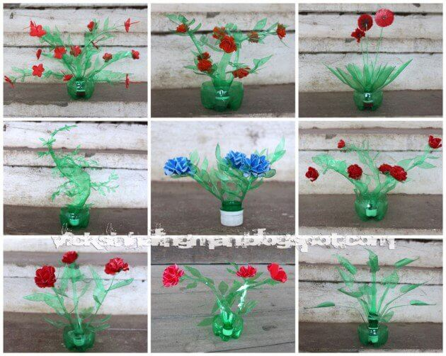 Plastic Pot and Flowers to Decorate Your Home How to make things from plastic bottles
