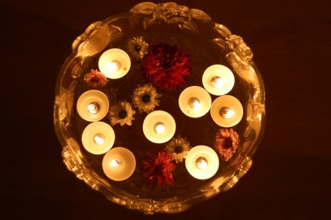 Homemade Candle Decoration Low Cost Diwali Decoration Ideas