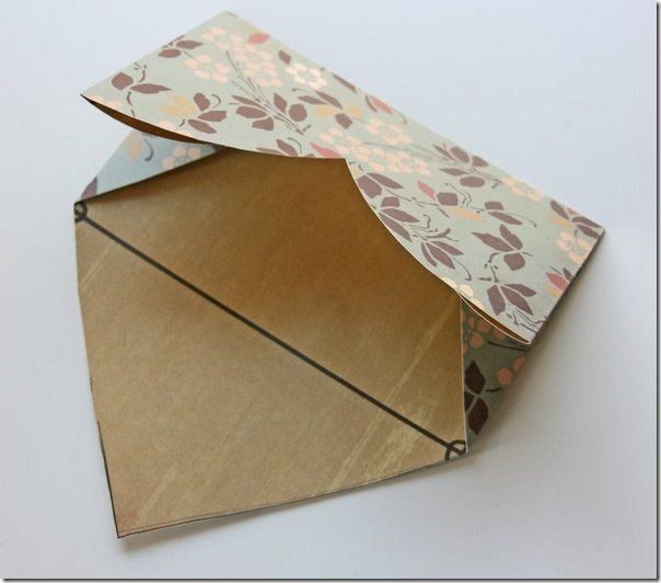 how-to-fold-a-cute-diy-envelope-from-heart-shaped-paper-Low Cost Diwali Decoration Ideas