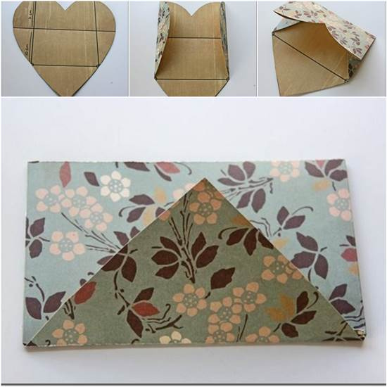 how-to-fold-a-cute-diy-envelope-from-heart-shaped-paper Make Heart Shaped Envelope in Few Simple StepsLow Cost Diwali Decoration Ideas