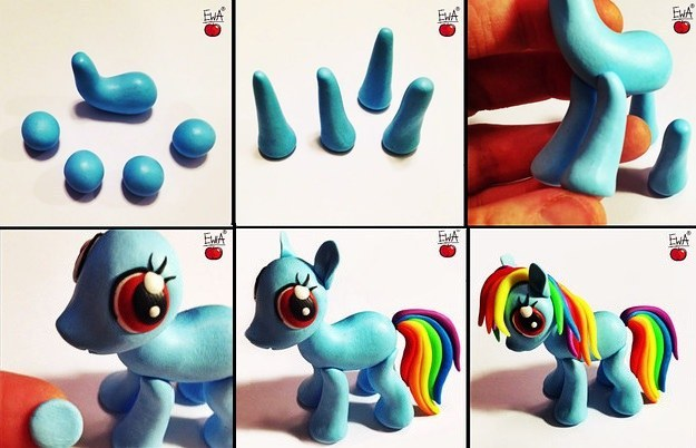 make-multiple-my-little-pony-charms-and-share-them-with-your-bronies Awesome Polymer Clay Project Video Tutorials