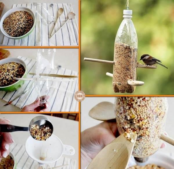 Bird Feeder From Plastic Bottles How to make things from plastic bottles