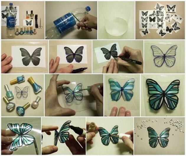 Colorful Butterfly from Plastic Bottle How to make things from plastic bottles