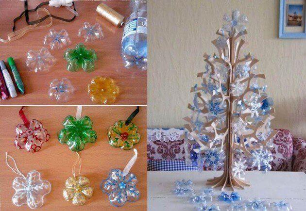 Christmas Tree Using Plastic Bottles How to make things from plastic bottles
