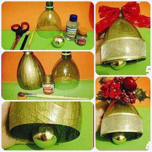 Christmas Bell from Plastic Bottle How to make things from plastic bottles