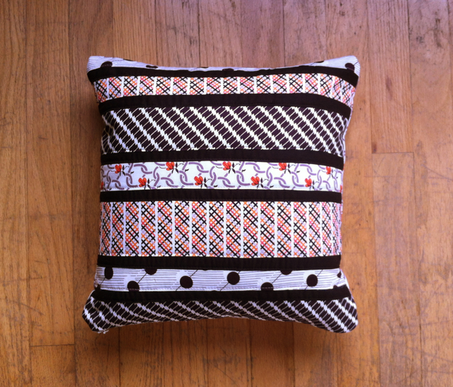 Quilted Patchwork Striped Pillow Patchwork Cushion Designs to Decorate Your Home