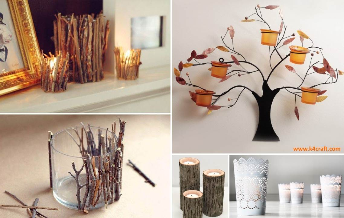 Diy Decoration Ideas With Candle Holder K4 Craft