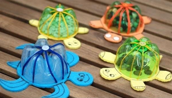 Tortoise From Plastic Bottles for Kids How to make things from plastic bottles