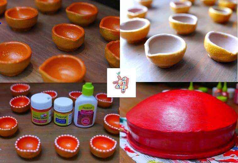 diya-raw-material Diya Decoration for Diwali