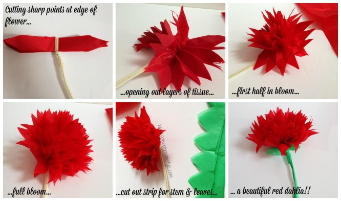 Dalia DIY Easy Flower Making Step by Step Tutorials
