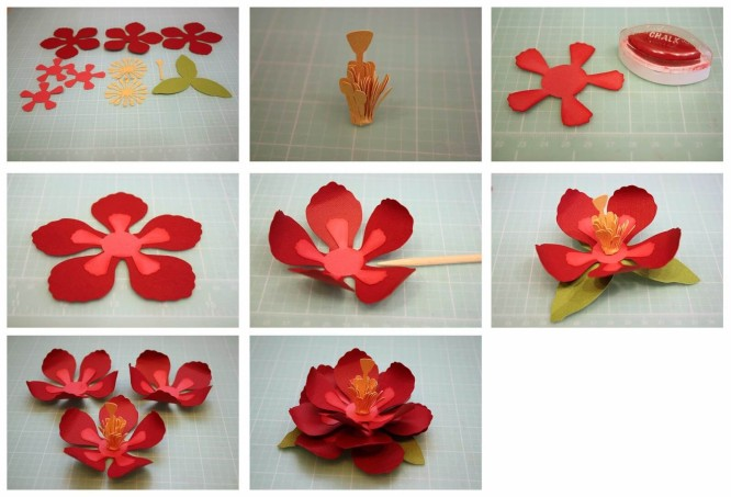 Pretty flower making step by step tutorial Easy Flower Making Step by Step Tutorials