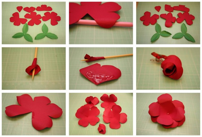 Beautiful paper DIY Easy Flower Making Step by Step Tutorials