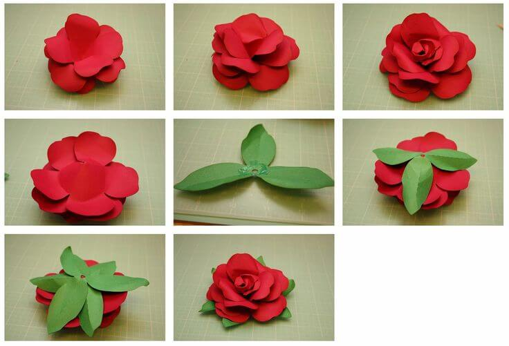 Fuller paper rose step by step tutorial Easy Flower Making Step by Step Tutorials