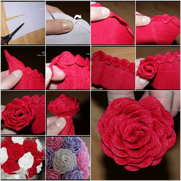 Easy flower making step by step tutorial Easy Flower Making Step by Step Tutorials