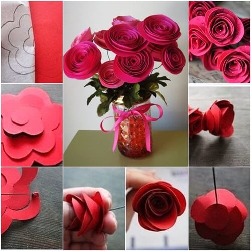 Easy to make paper roses Easy Flower Making Step by Step Tutorials