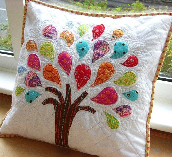Rainbow Tree Patchwork! Patchwork Cushion Designs to Decorate Your Home