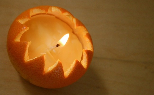 orange-peel-candle Fruity Candles Low Cost Diwali Decoration Ideas