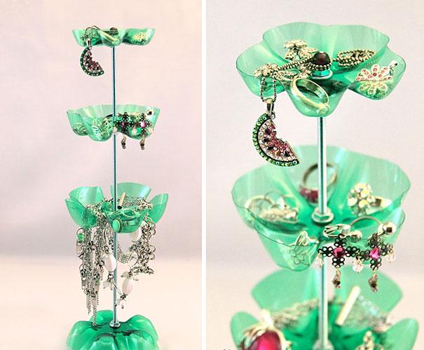Plastic Bottles Earrings Holder How to make things from plastic bottles
