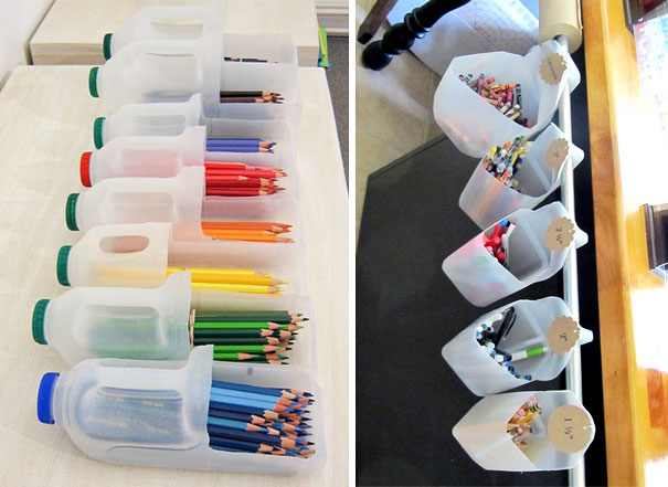 Plastic Bottles PencilContainer How to make things from plastic bottles