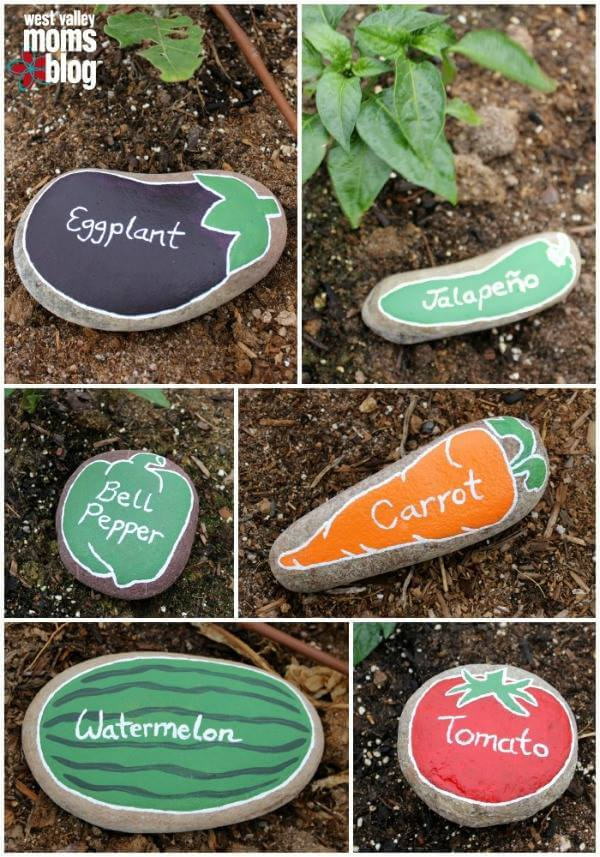 DIY Fruits and Vegetables painted stones Decorative Stones & Gravel, Paint Craft Ideas