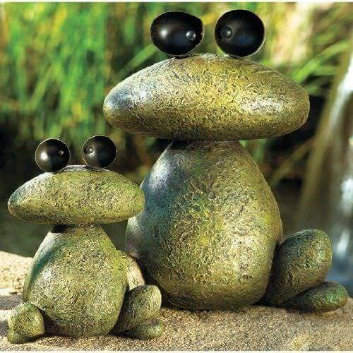 Froggy frogs Decorative Stones Decorative Stones & Gravel, Paint Craft Ideas