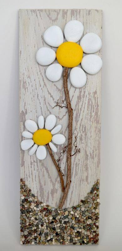 Floral Decorative Stones Decorative Stones & Gravel, Paint Craft Ideas