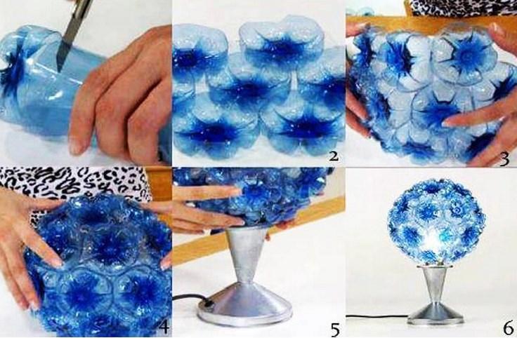 Plastic Bottles Light Lamp How to make things from plastic bottles