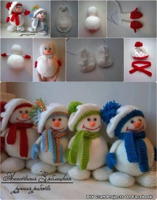 DIY Snowman Cute Craft Step by Step Tutorials