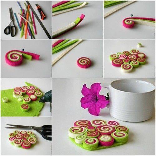 Cute Coasters Cute Craft Step by Step Tutorials