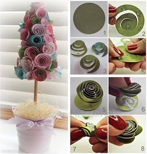 Paper Tree Tutorial Cute Craft Step by Step Tutorials