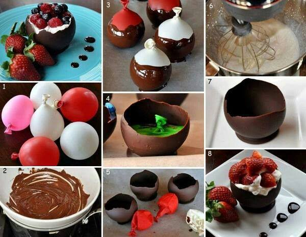 Chocolate Bowl Cute Craft Step by Step Tutorials
