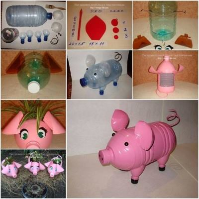 Piggy Bank for Plastic Bottle Cute Craft Step by Step Tutorials