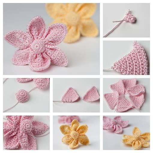Crochet Flower Pattern Step by Step Crochet Patterns Tutorials