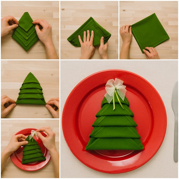 DIY Napkin Homemade Christmas tree Recycle Wooden Pallets With Awesome Furniture Designs