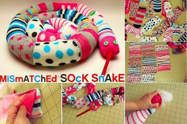 DIY Mismatched Sock Snake- Craft Tutorial  DIY Mismatched Sock Snake- Craft Tutorial Beautiful & Simple DIY Home Decoration Step by Step Tutorials