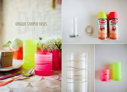 Opaque striped vases- Craft Tutorial Beautiful & Simple DIY Home Decoration Step by Step Tutorials