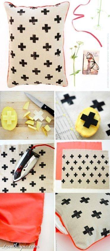 Neon cross pillow- Craft Tutorial Beautiful & Simple DIY Home Decoration Step by Step Tutorials