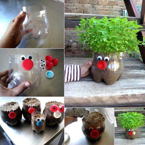 Plastic bottle planter- Craft Tutorial Beautiful & Simple DIY Home Decoration Step by Step Tutorials