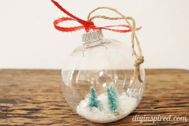 DIY Snow Globe Ornaments Glass Ornaments for Christmas Gift