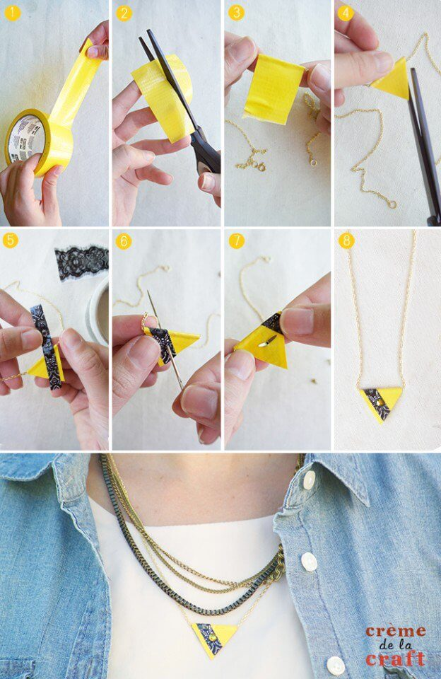 DIY-feather-necklace-tutorial Step by Step Tutorials for Handmade Necklaces