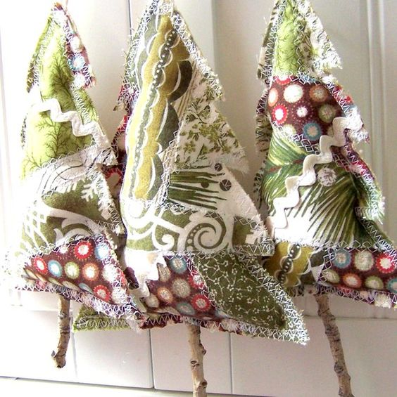 Fabric and Ric Rac Christmas Trees Christmas Tree Making Step by Step Tutorials