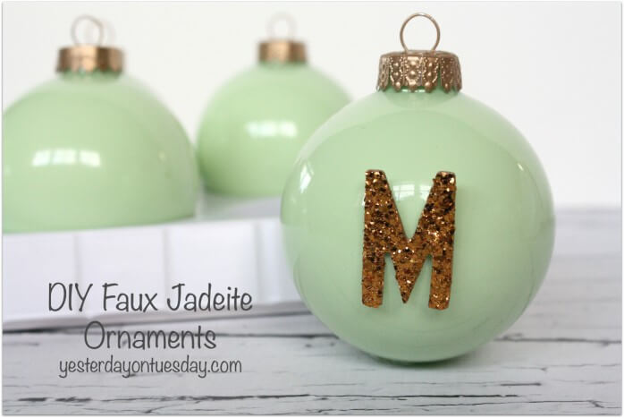 Faux Jadeite Ornaments Glass Ornaments for Christmas Gift