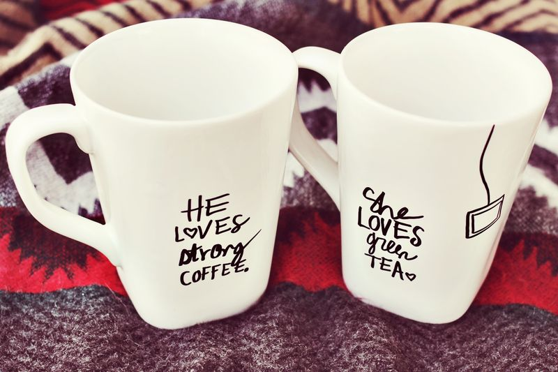 His + Her Sharpie Mug- Craft Tutorial Beautiful & Simple DIY Home Decoration Step by Step Tutorials