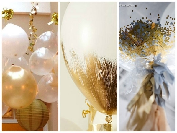 New-Years-Eve-party-decoration-ideas-DIY-balloon-decorations-confetti-gold-paint  • K4 Craft
