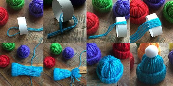ranjana-rajanStep by Step Tutorial for Making Winter Yarn Miniature Hats