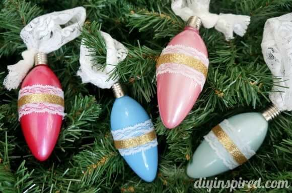 Vintage Inspired Ornaments Glass Ornaments for Christmas Gift