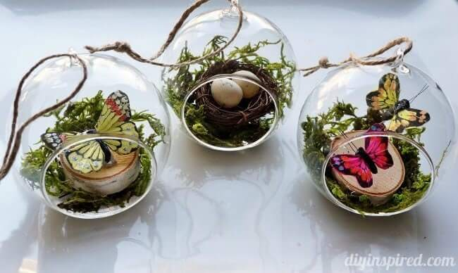 Winter Woodlands DIY Ornaments Glass Ornaments for Christmas Gift